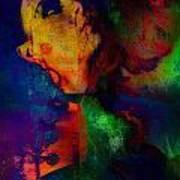 Ophelia In Neon Art Print by Adam Kissel