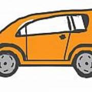 Orange Car Art Print