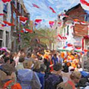 Orange Day Party Art Print