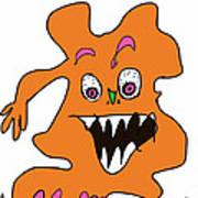 Orange Monster 1 Art Print