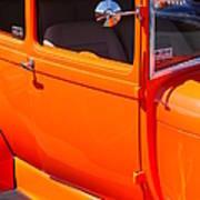 Orange Passenger Door Art Print
