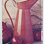 Orange Pitcher And Tomatoes Art Print