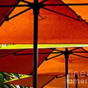 Orange Sliced Umbrellas Art Print