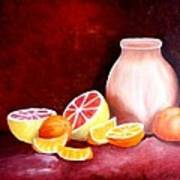 Orange Still Life Art Print by Carola Ann-Margret Forsberg