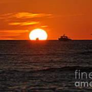 Orange Sunset II Art Print