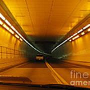 Orange Tunnel In Dc Art Print