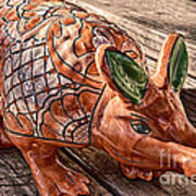 Orangeadillo Art Print by Ken Williams