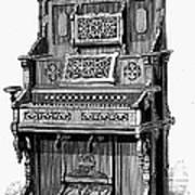 Organ, 19th Century Art Print
