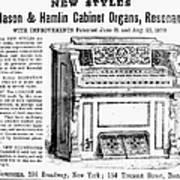 Organ Ad, 1870 Art Print