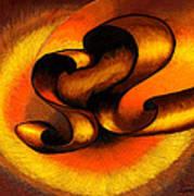 Original Abstract Orange Art Print