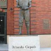Orlando Cepeda At San Francisco Giants Att Park .7d7631 Art Print