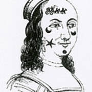 Ornamental Patches On Face, 17th Century Art Print