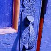 Ornate Blue Handle 2 Art Print