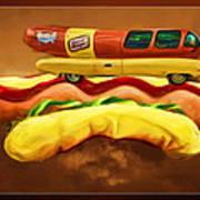 Oscar Mayar Car Art Print