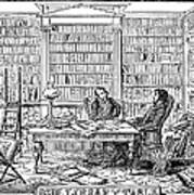 Our Library Table, 1842 Art Print by Granger