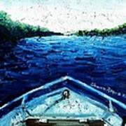 Out On The Boat Art Print