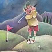 Out On The Course Art Print