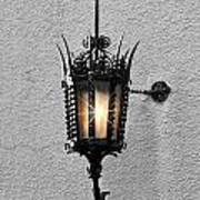 Outdoor Wall Lamp Aglow Art Print