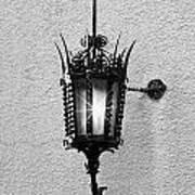Outdoor Wall Lamp Bw Art Print