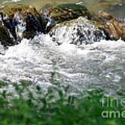 Over The Stones The Water Flows Art Print