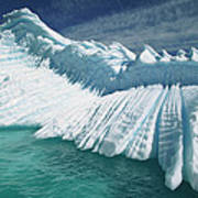 Overturned Iceberg With Eroded Edges Art Print
