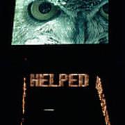 Owl Eye Zipper Sign Times Square Art Print