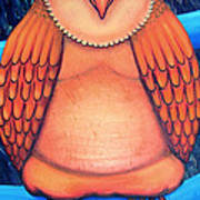 Owl In Oil Art Print by Barbara Stirrup