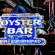 Oyster Bar Sign Art Print