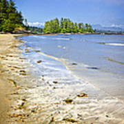 Pacific Ocean Coast On Vancouver Island Art Print