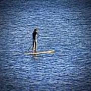 Paddle Boarding Art Print