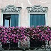 Padua Balcony And Window Boxes Art Print