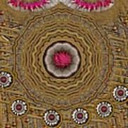 Pagoda Of Lotus Pop Art Art Print