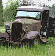 Painted 30's Chevy Truck Art Print by Steve McKinzie