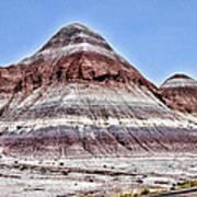Painted Desert Mounds Art Print