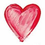 Painted Heart - Symbol Of Love Art Print