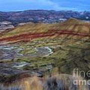Painted Hills At Dusk Art Print