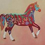 Painted Horse B Art Print