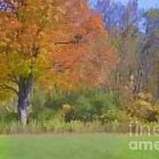 Painted Leaves Of Autumn Art Print