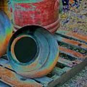 Painted Pots Pallet Art Print