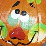 Painted Pumpkin 3 Art Print