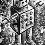 Painted Robot 1 Of 6 Art Print