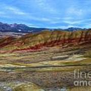 Painted Sky Over Painted Hills Art Print