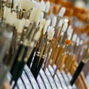 Painting Brushes Art Print