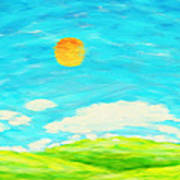 Painting Of Nature In Spring And Summer Art Print