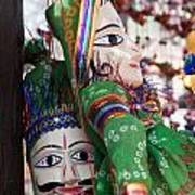 Pair Of Large Puppets At The Surajkund Mela Art Print
