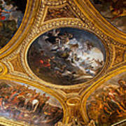 Palace Of Versailles Ceiling Art Print