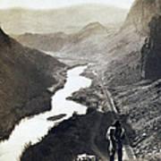 Palisades Railroad View - California - C 1865 Art Print