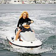 Pamela Anderson Is A Jet Ski Vixen Art Print