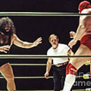 Pampero Firpo Vs Texas Red In Old School Wrestling From The Cow Palace  Art Print