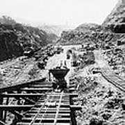 Panama Canal - Construction At The Culebra Cut - C 1910 Art Print
